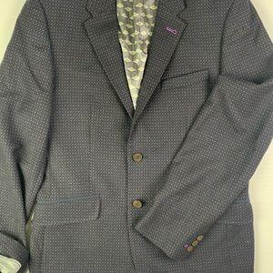 TED BAKER Wool Surgeon Cuffs Blazer Size 38R